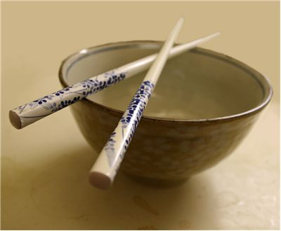 Picture Of Chinese Bowl With Chopsticks