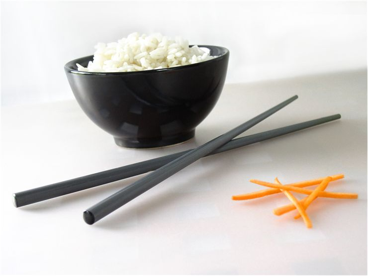 Picture Of Chinese Cuisine Rice With Chopsticks