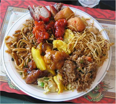 Picture Of Chinese Food Full Plate
