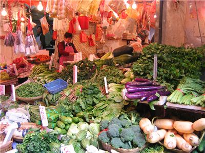 Picture Of Chinese Market Vegetable Stall