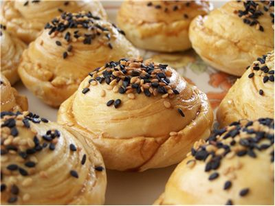 Picture Of Chinese Pineapple Sesame Pastries