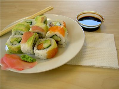 Picture Of Rainbow Sushi Chinese Food